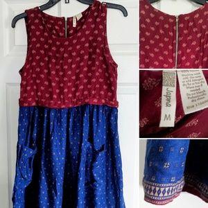 Japana Boho Sleeveless Dress W/Pockets